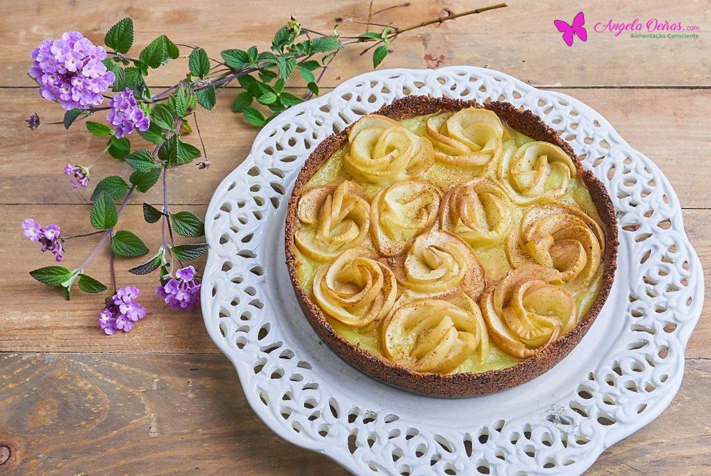 Tarte de rosas de maçã para o dia da mãe